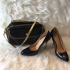 Giuseppe Zanotti black patent heels size 7.5